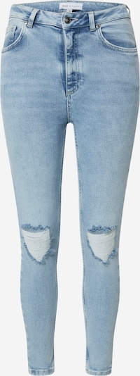 NU-IN Jeans 'High Rise Distressed Skinny Jeans' in de kleur Blauw denim: Vooraanzicht