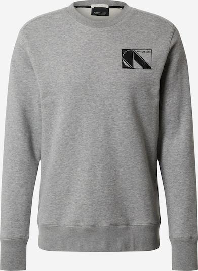SCOTCH & SODA Sweatshirt in de kleur Grijs gemêleerd / Zwart, Productweergave