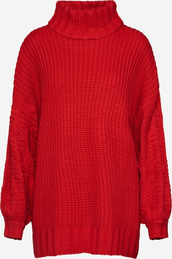 Lost Ink Pull-over 'SUPER SLEEVE STITCH JUMPER' en rouge, Vue avec produit