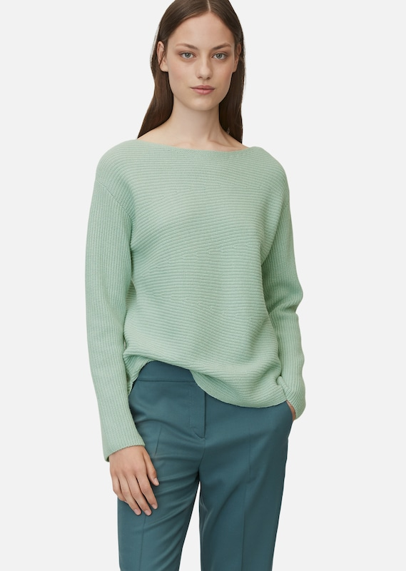 Marc O'Polo Pure Strickpullover in mint: Frontalansicht