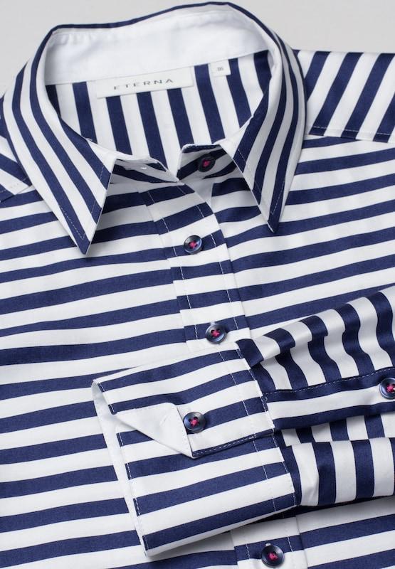 ETERNA Blause Blause Blause Modern Classic in marine   weiß  Großer Rabatt 60f61c
