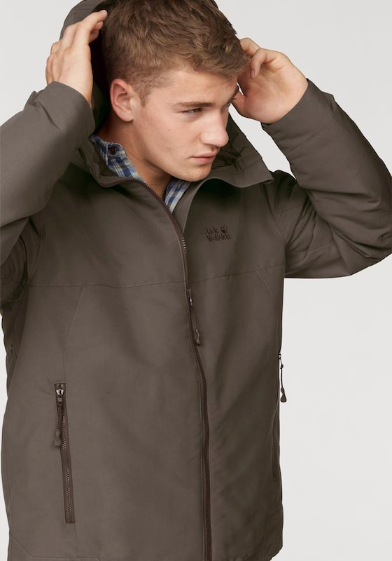 JACK WOLFSKIN Funktionsjacke 'Ranua' in taupe | ABOUT YOU