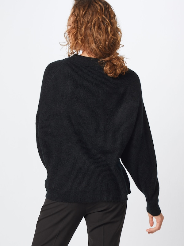 Neck' Gap En Mock over Noir Pull 'drama Sleeve f6gyYbv7