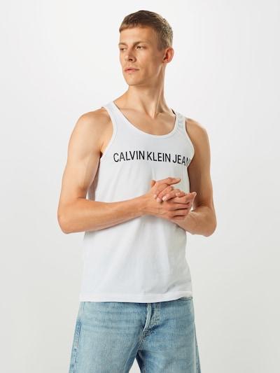 Calvin Klein Jeans Koszulka w kolorze czarny / białym: Widok z przodu