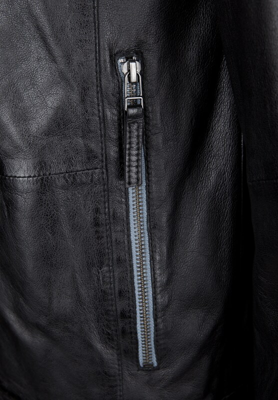 Freaky Nation Leather Jacket Ruby