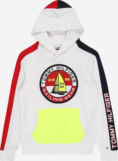 TOMMY HILFIGER Sweatshirt in nachtblau / gelb / rot / weiß, Produktansicht