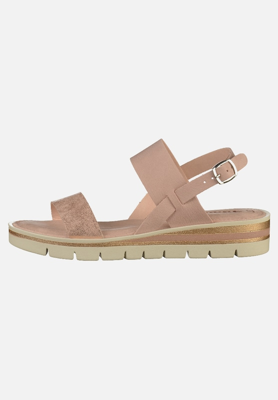 low price factory authentic best loved TAMARIS Sandalen in gold / rosé / weiß | ABOUT YOU