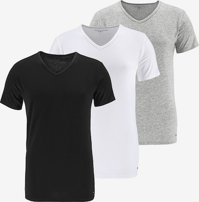 TOMMY HILFIGER T-Shirt in graumeliert / schwarz / weiß, Produktansicht