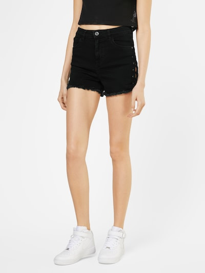 Urban Classics Shorts in black denim, Modelansicht