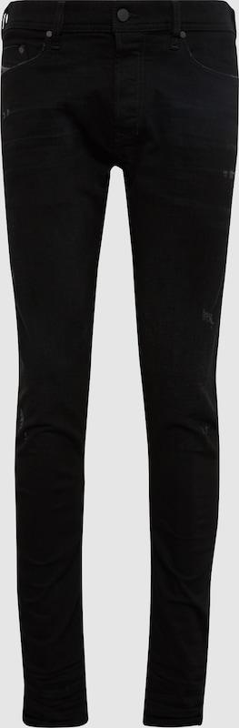 DIESEL Jeans 'Tepphar' in schwarz denim  Freizeit, schlank, schlank