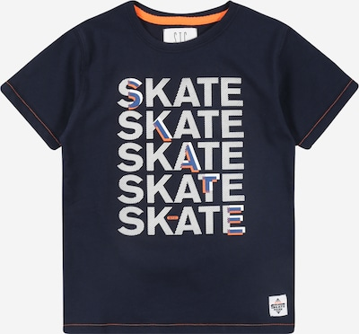 STACCATO Shirt in blau / navy / orange / weiß, Produktansicht