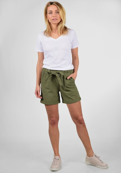Desires Shorts 'Lina' in grün / khaki / oliv / dunkelgrün, Modelansicht