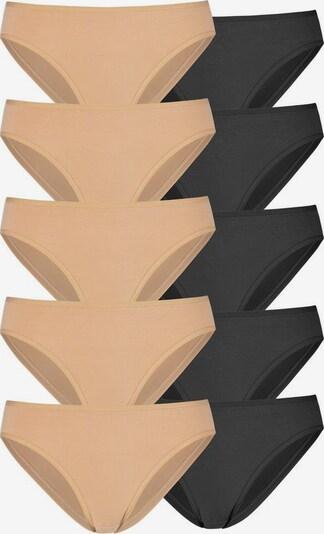 GO IN Slip in nude / schwarz, Produktansicht