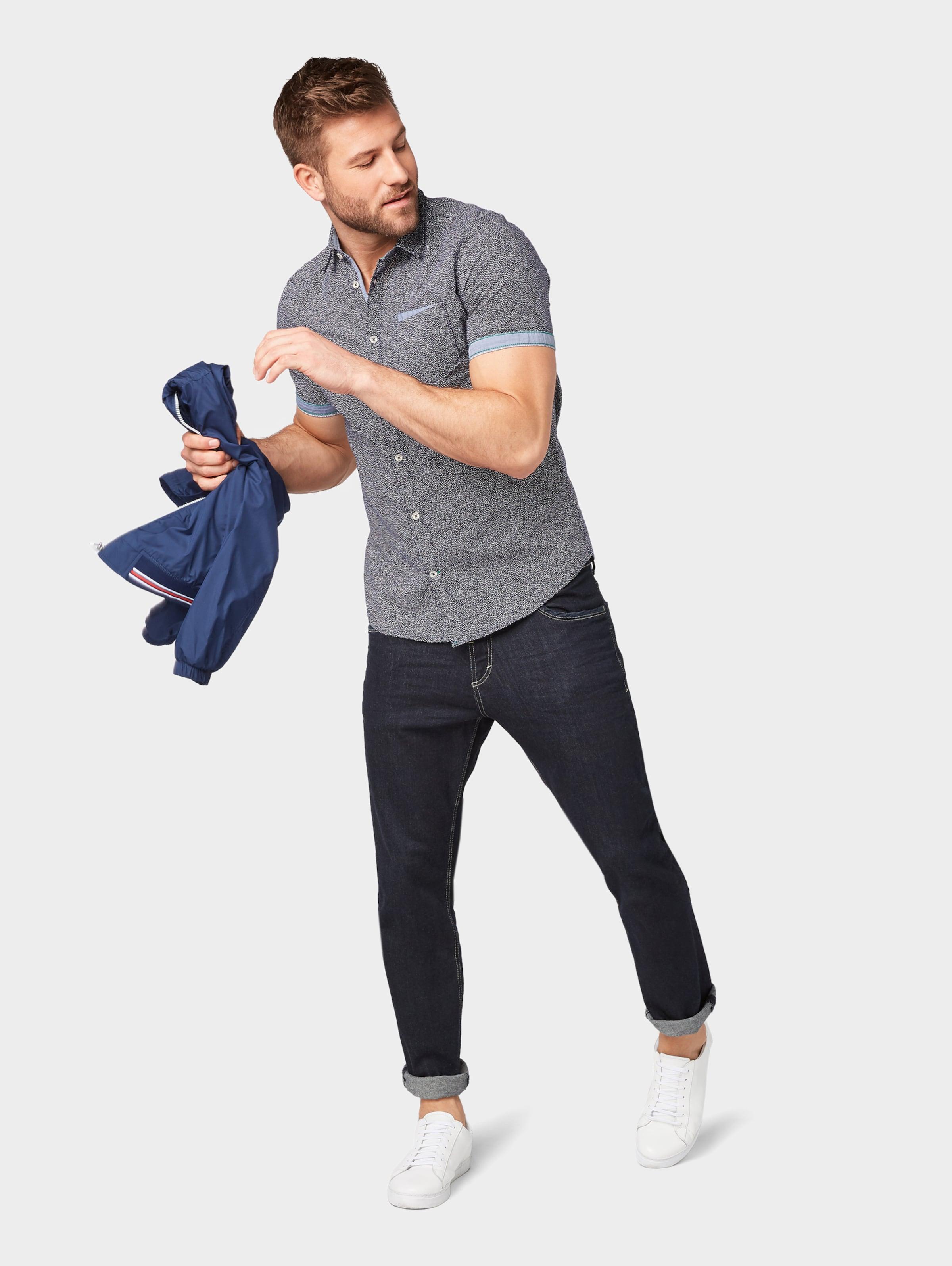 DunkelblauWeiß Tom In Tom Hemd Tailor 80wOknP