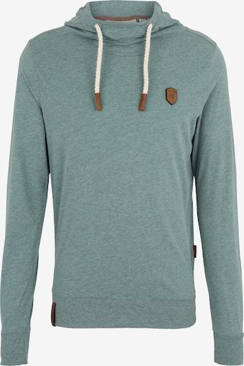 naketano Sweatshirt 'Diese Nüsse' in de kleur Aqua, Productweergave