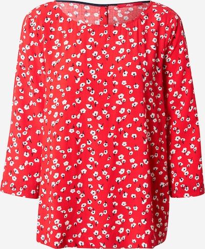 s.Oliver Bluse in rot / weiß, Produktansicht