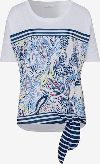 BRAX Shirt 'Carlotta' in de kleur Marine / Smoky blue / Pasteelgeel / Pastelrood / Wit, Productweergave