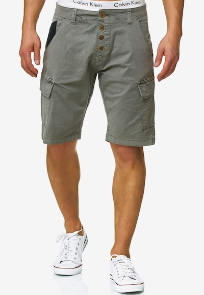 INDICODE JEANS Shorts 'Hedworth' in grau: Frontalansicht