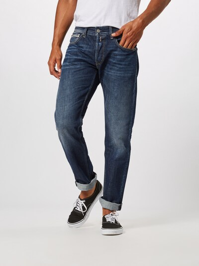 REPLAY Jeans 'Grover' in blue denim, Modelansicht