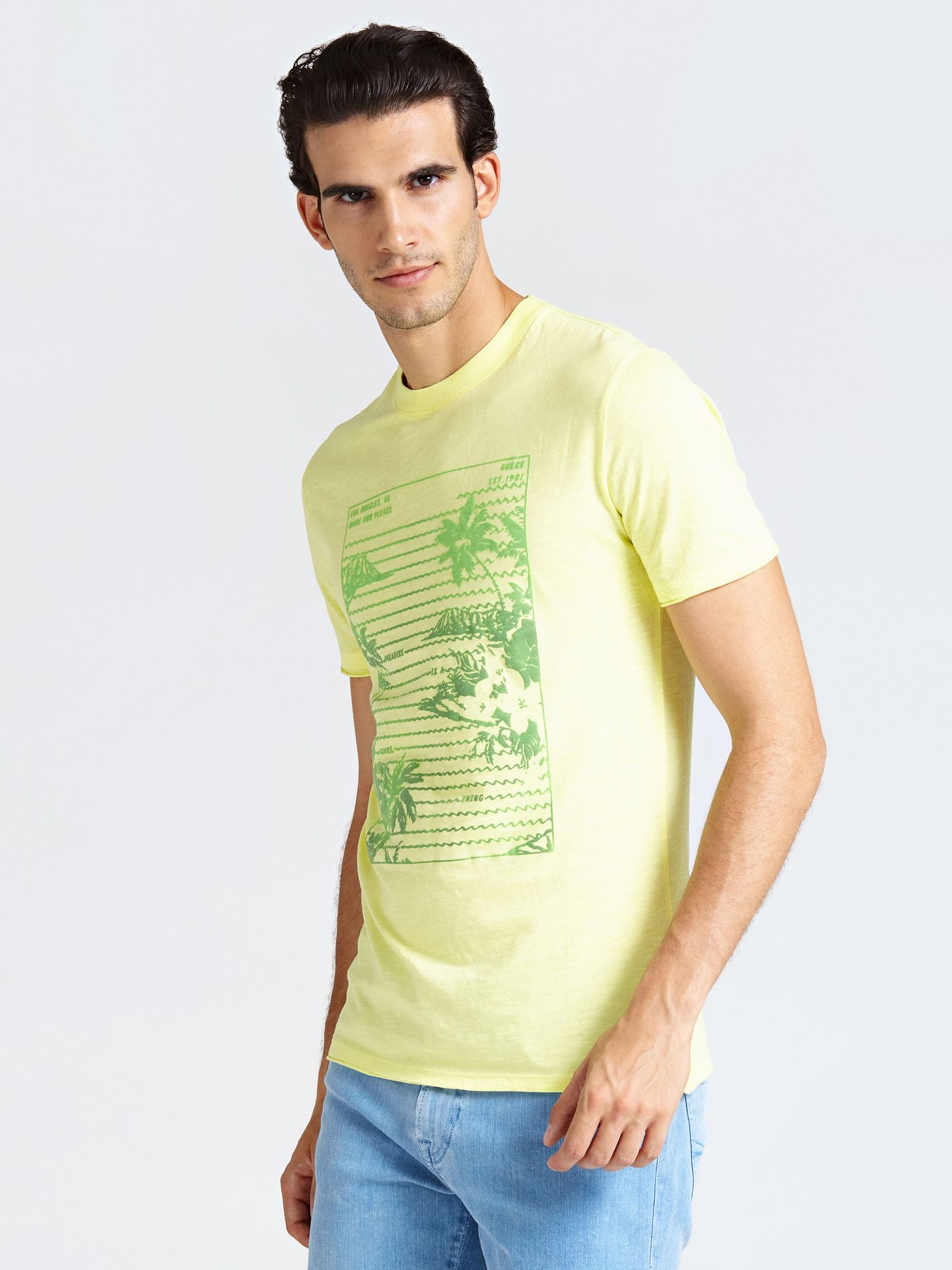 T GelbGrün shirt GelbGrün T Guess Guess In T shirt Guess shirt In rhQtdsCx