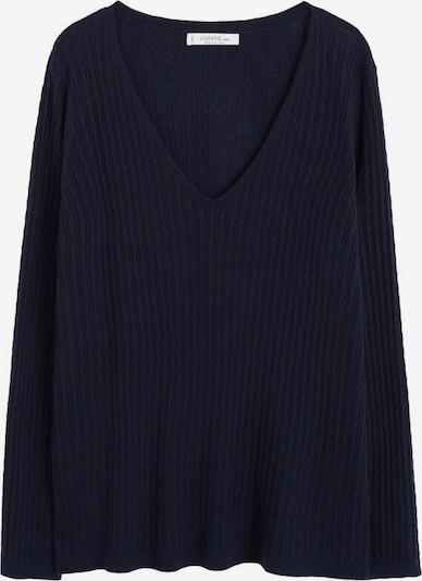 VIOLETA by Mango Pullover 'Cable' in navy, Produktansicht
