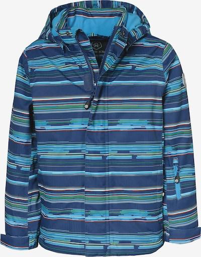 COLOR KIDS Skijacke 'DARTWIN' in blau / neonblau / grün, Produktansicht