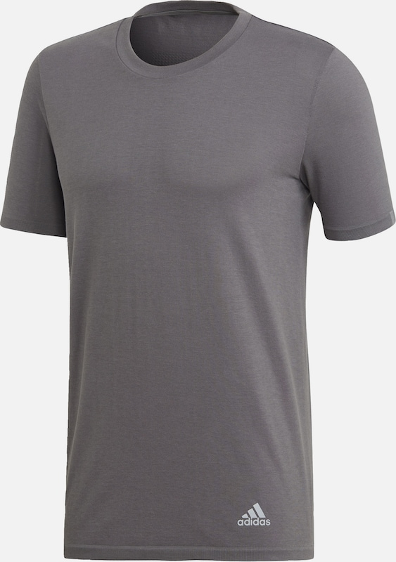ADIDAS PERFORMANCE T-Shirt in grau: Frontalansicht