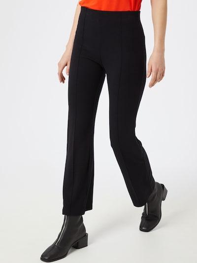 Pantaloni eleganți 'SLGenevieve Pants' SOAKED IN LUXURY pe negru, Vizualizare model