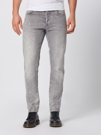 Jeans '3301 Straight' G-Star RAW pe denim gri: Privire frontală
