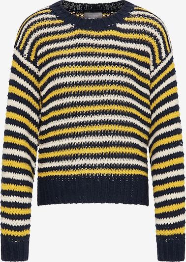 Usha Pullover in zitronengelb / schwarz / perlweiß, Produktansicht