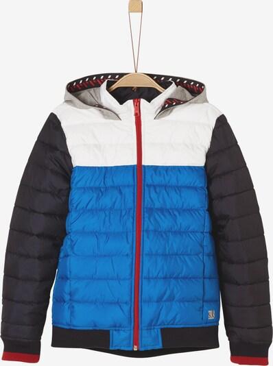 s.Oliver Junior Outdoorjacke in blau / grau / rot / schwarz / weiß, Produktansicht