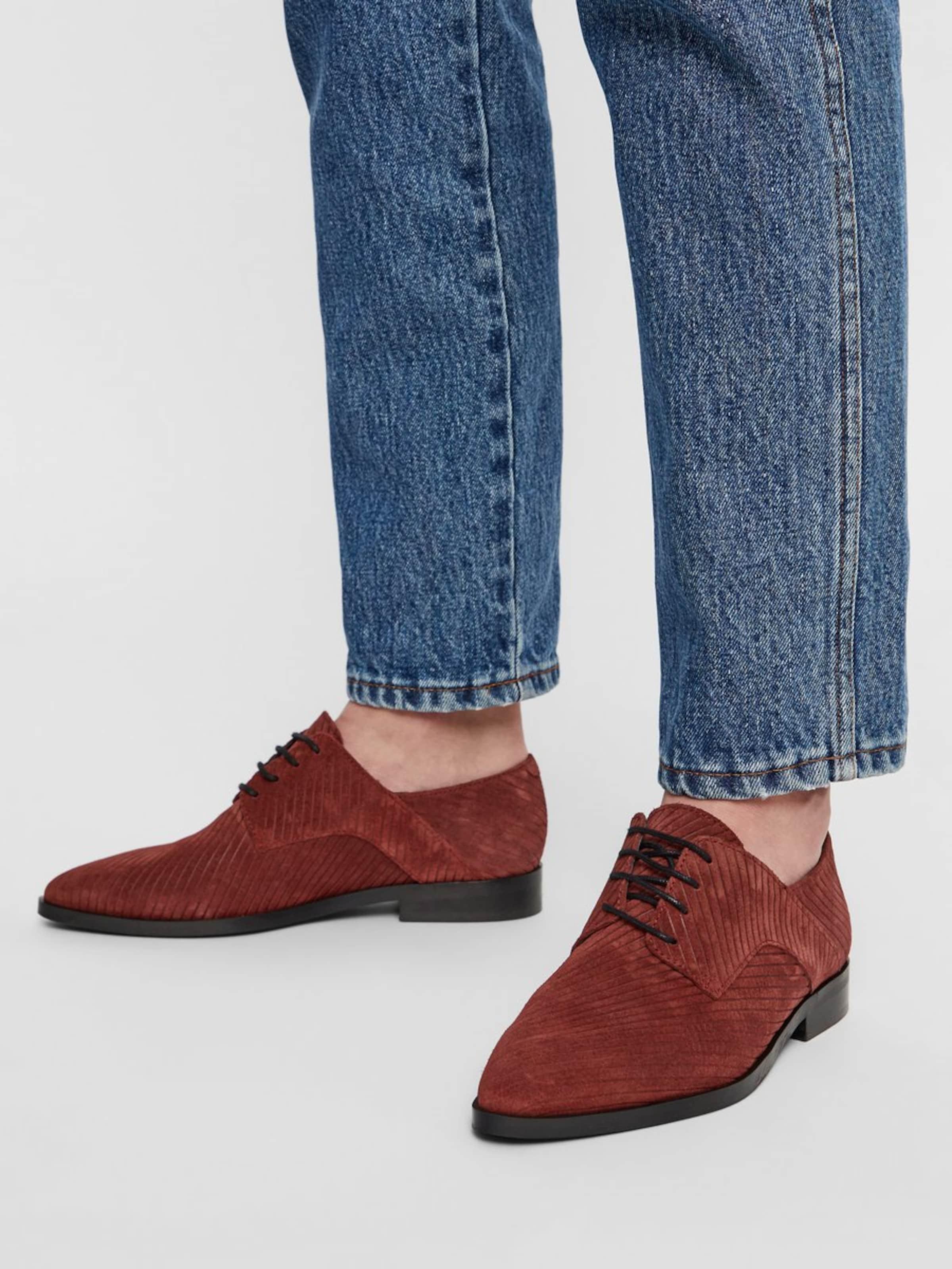 En Chaussure Lacets Rouille À Bianco Rouge yIYbf6gv7