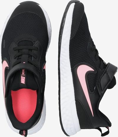 NIKE Športni čevelj | rosé / črna barva: Pogled od strani