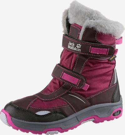 JACK WOLFSKIN Boots 'Snow Flake' in grau / aubergine / dunkelpink: Frontalansicht