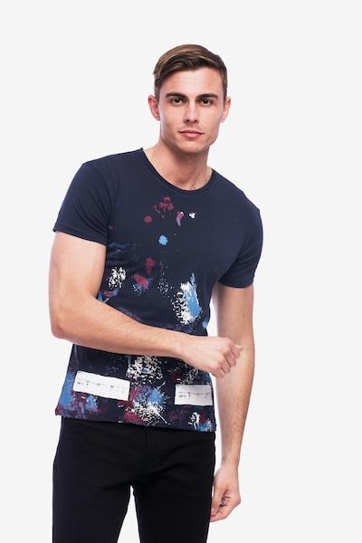 Tom Barron Rundhalsshirt 'Print Fascination' in dunkelblau, Produktansicht