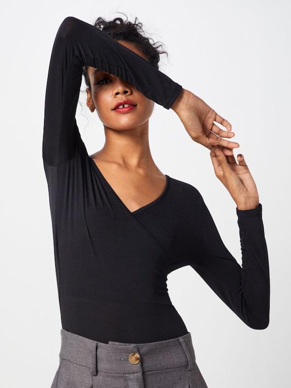 Shirt Wrap Zwart In 'slinky Boohoo Bodysuit' tCQrhsdx