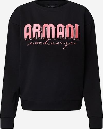 ARMANI EXCHANGE Sweatshirt in pink / schwarz, Produktansicht