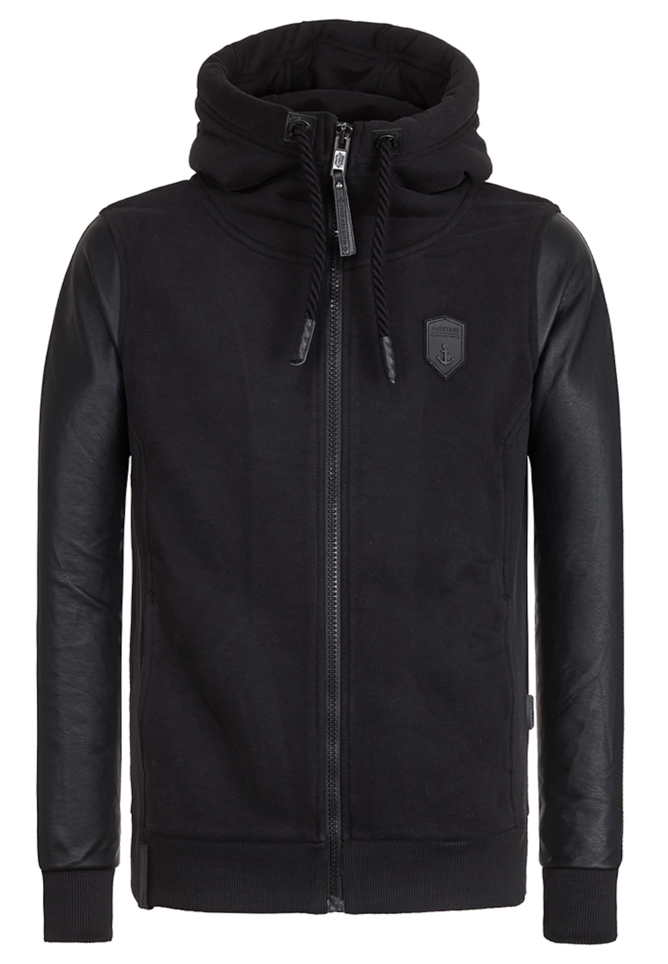 naketano Male Zipped Jacket Black 'Guck Auf Den Boden' 2018 Auslaß ZNaR7rJD