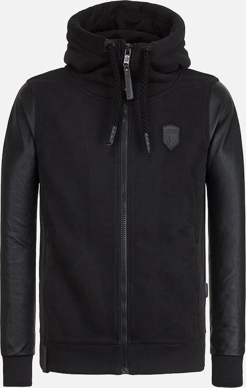 naketano Male Zipped Jacket Black 'Guck Auf Den Boden'