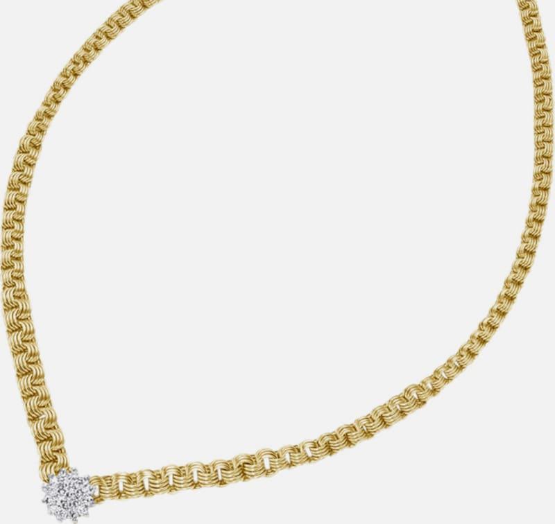FIRETTI Halsschmuck: Collier/Kette in Fantasiekettengliederung mit funkelnden Diamanten
