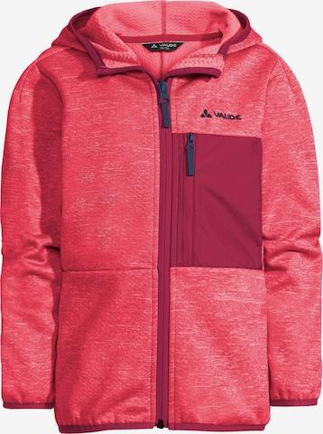 VAUDE Athletic Fleece Jacket 'Kikmora' in Pink