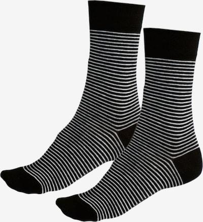 HIS JEANS Damensocken (6 Paar) in schwarz / weiß, Produktansicht
