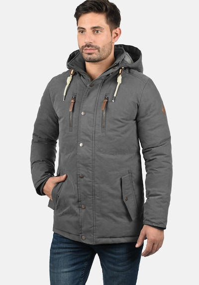 !Solid Winterjacke 'Dry Jacque' in dunkelgrau: Frontalansicht