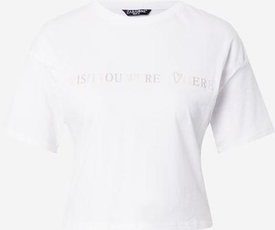 ZABAIONE Shirt 'Cloe' in pink / weiß, Produktansicht