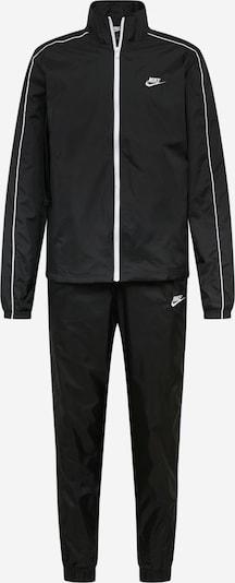 Nike Sportswear Jogas tērps melns / balts, Preces skats