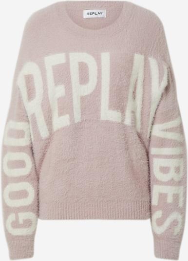 REPLAY Pullover 'Mesh' in rosa / weiß, Produktansicht