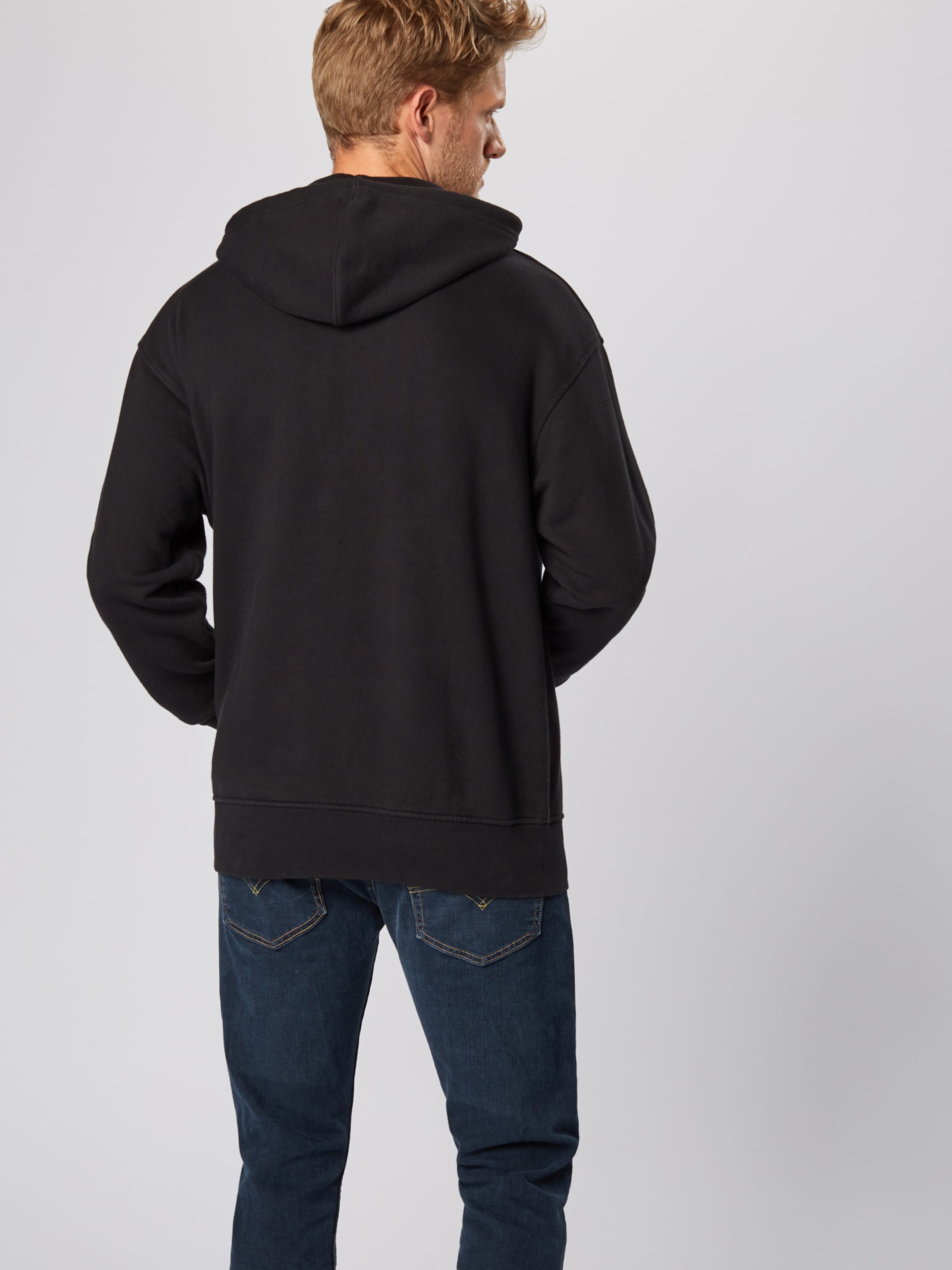 Levi's Noir En Sweat shirt 'oversized Graphic' KJTc3Fl1