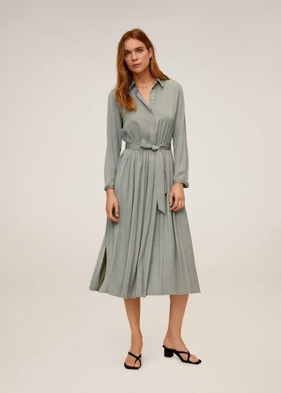 MANGO Kleid pink in grau, Modelansicht