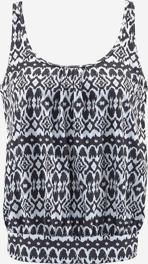 LASCANA Tankini-Top in schwarz / weiß, Produktansicht