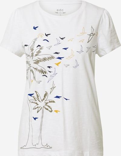 Tricou EDC BY ESPRIT pe culori mixte / alb: Privire frontală